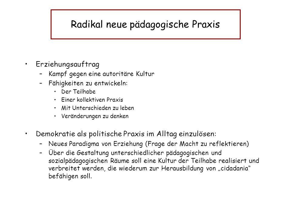 Radikal neue pädagogische Praxis