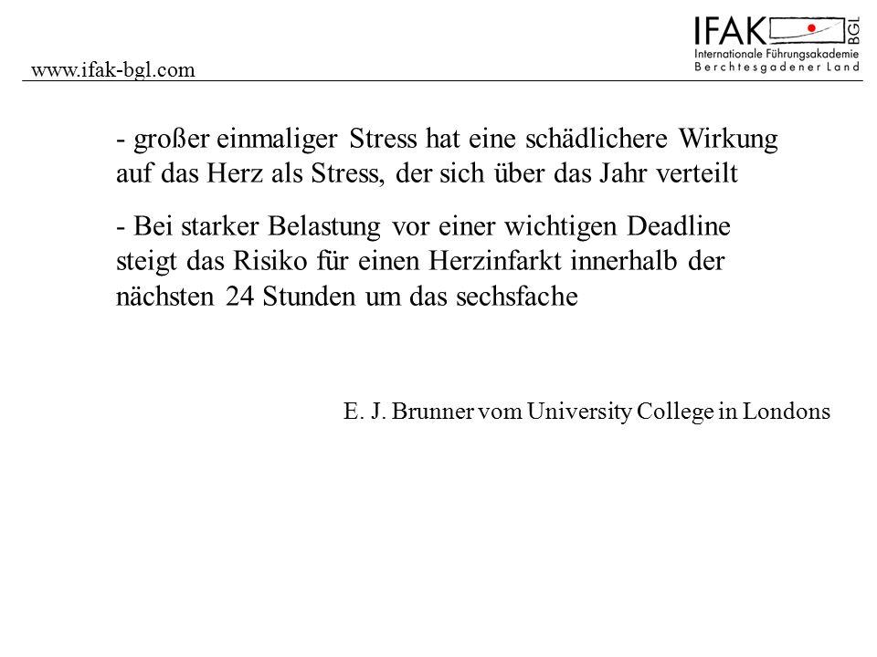www.ifak-bgl.com großer einmaliger Stress hat eine schädlichere Wirkung auf das Herz als Stress, der sich über das Jahr verteilt.