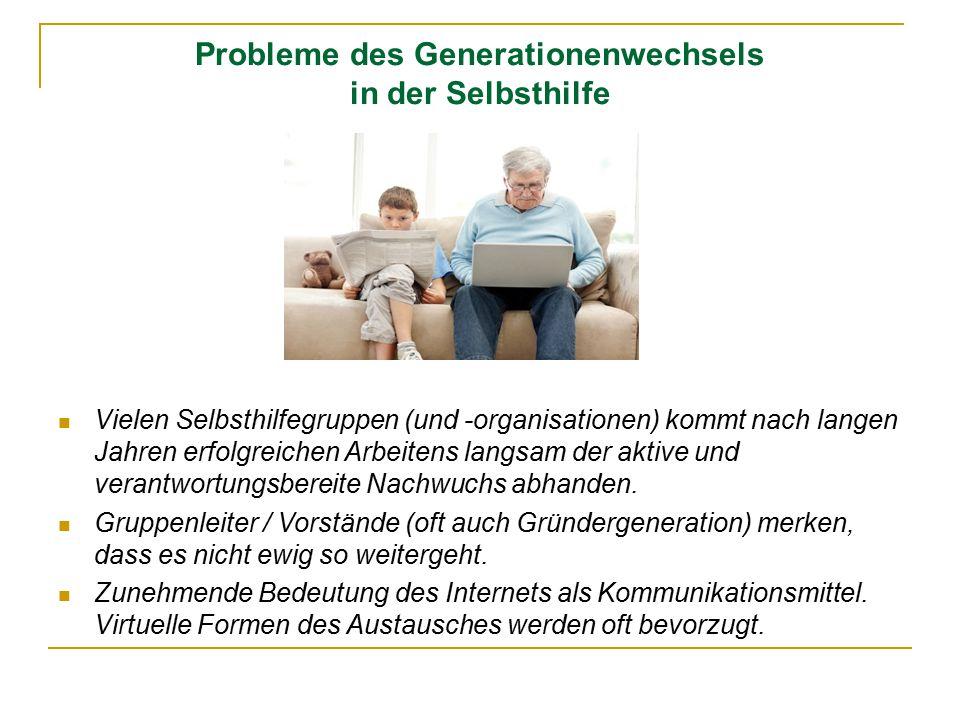 Probleme des Generationenwechsels in der Selbsthilfe