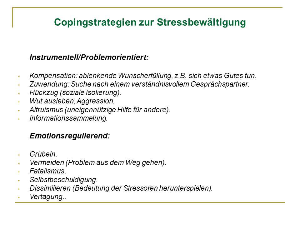 Copingstrategien zur Stressbewältigung