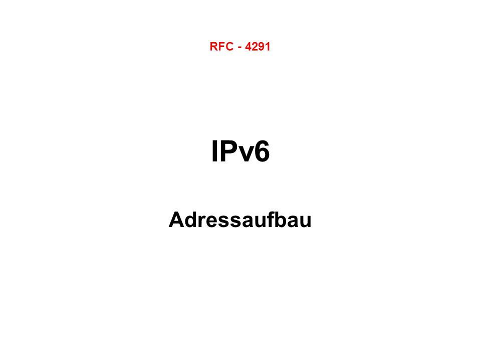 RFC - 4291 IPv6 Adressaufbau