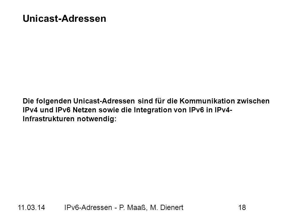 Unicast-Adressen