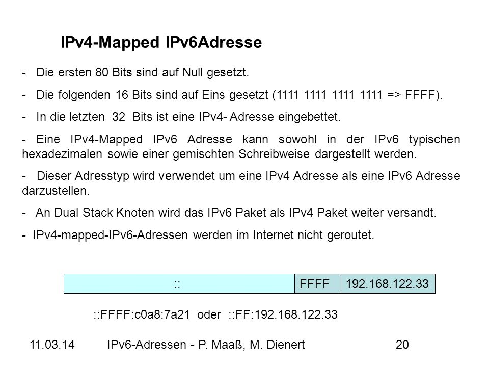 IPv4-Mapped IPv6Adresse