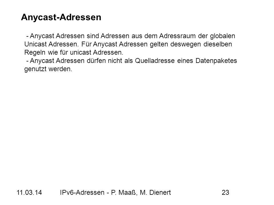 Anycast-Adressen