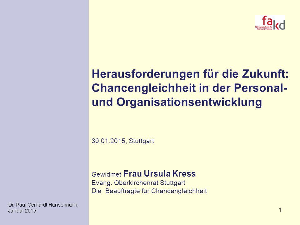 Herausforderungen für die Zukunft: Chancengleichheit in der Personal- und Organisationsentwicklung