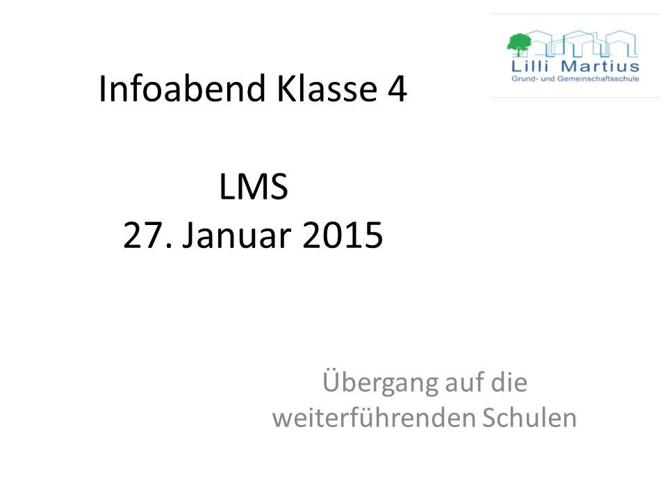 Infoabend Klasse 4 LMS 27. Januar 2015