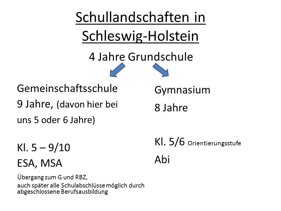 Schullandschaften in Schleswig-Holstein