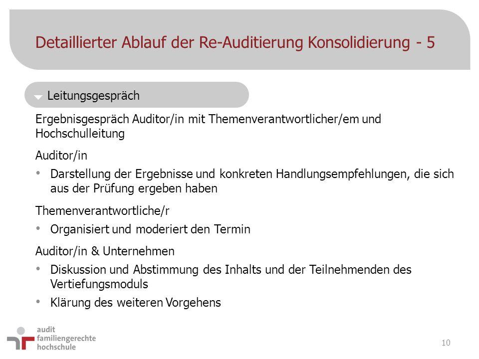Detaillierter Ablauf der Re-Auditierung Konsolidierung - 5