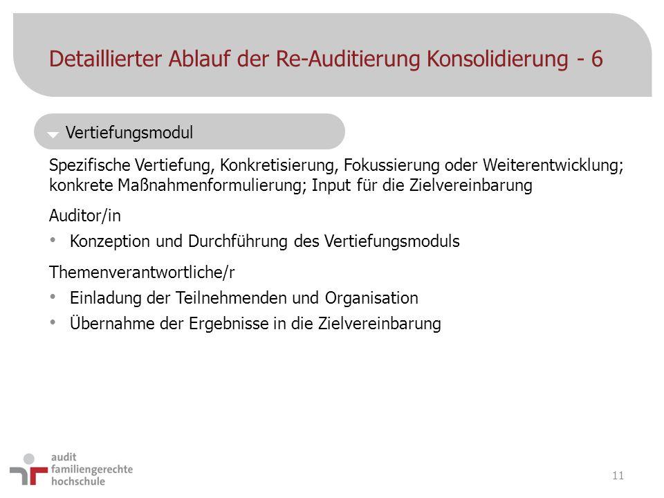 Detaillierter Ablauf der Re-Auditierung Konsolidierung - 6