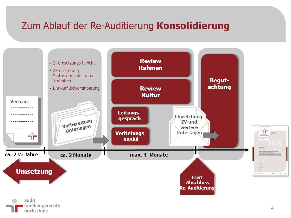 Zum Ablauf der Re-Auditierung Konsolidierung
