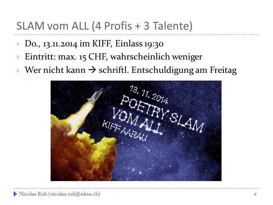 SLAM vom ALL (4 Profis + 3 Talente)