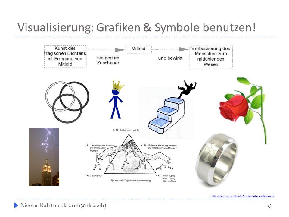 Visualisierung: Grafiken & Symbole benutzen!