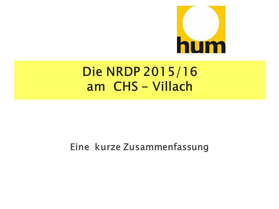 Die NRDP 2015/16 am CHS - Villach