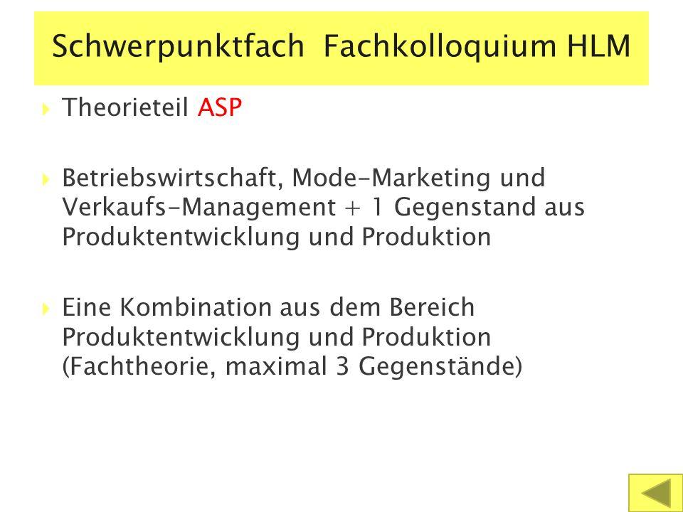 Schwerpunktfach Fachkolloquium HLM