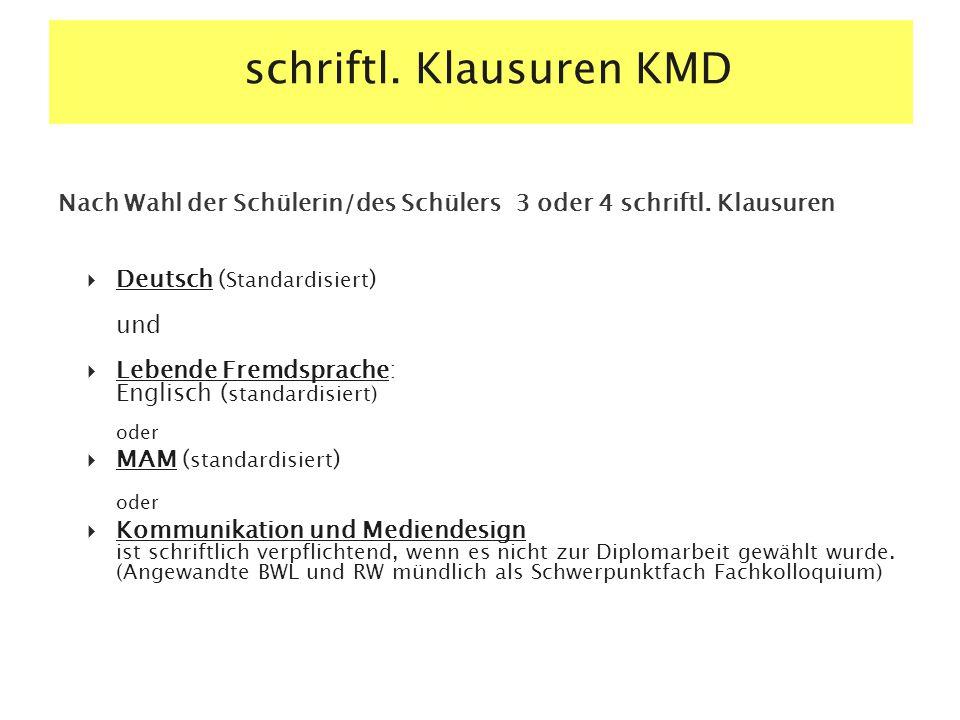 schriftl. Klausuren KMD