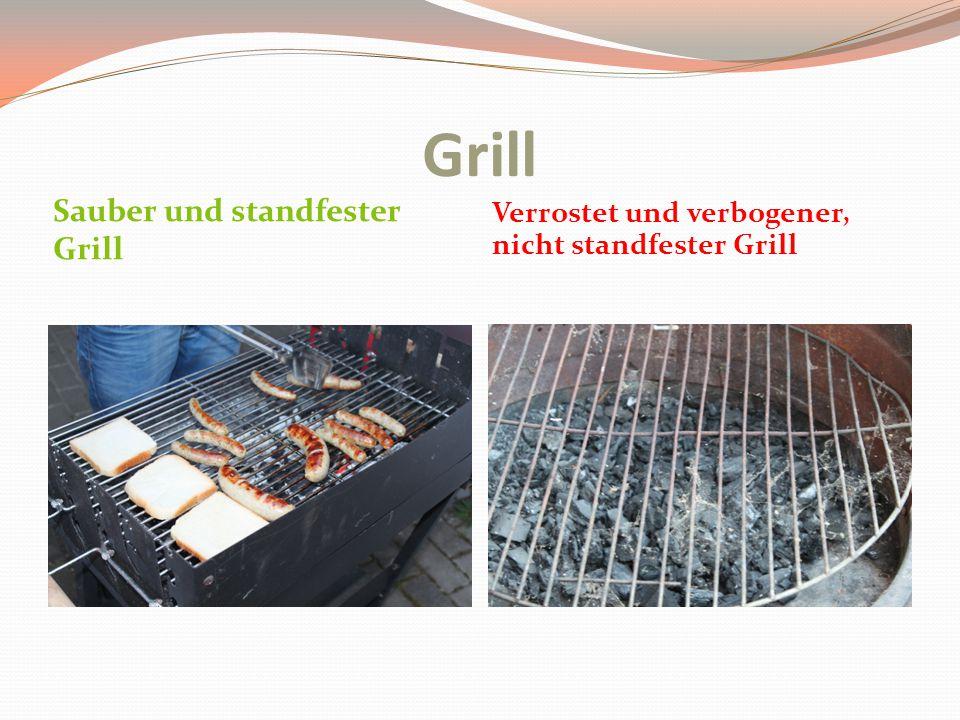 Grill Sauber und standfester Grill