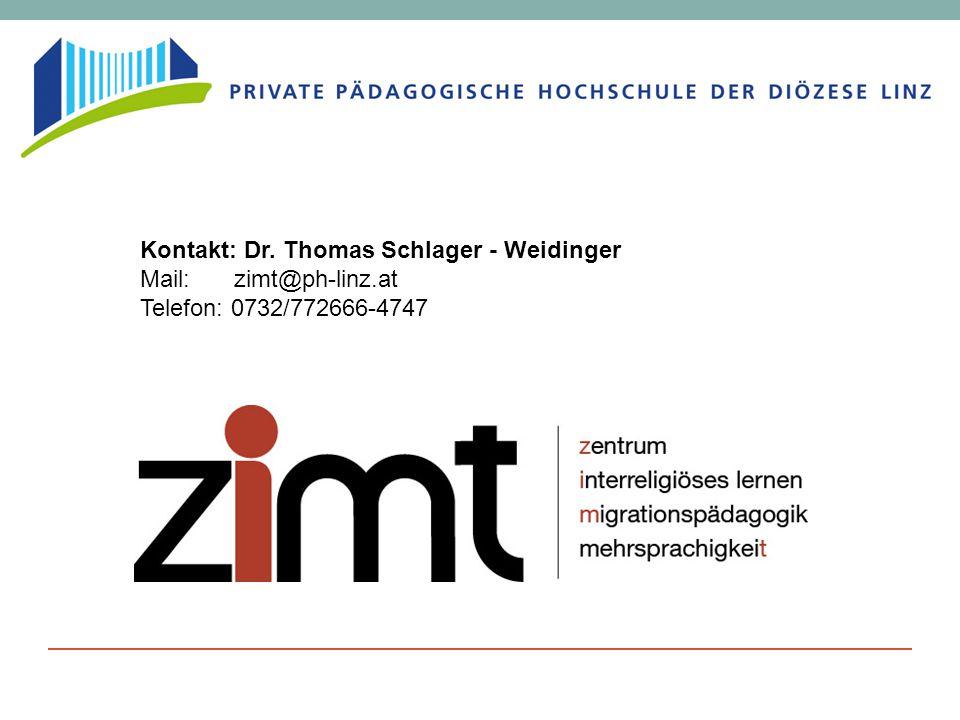 Kontakt: Dr. Thomas Schlager - Weidinger