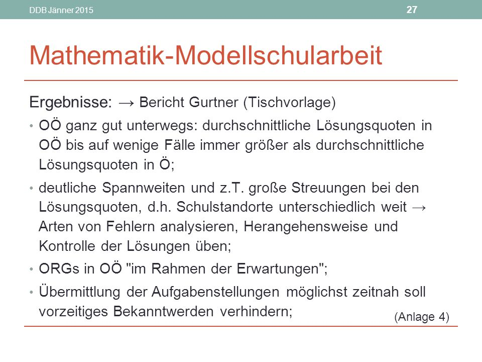 Mathematik-Modellschularbeit
