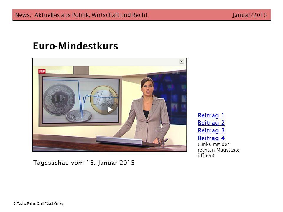Euro-Mindestkurs Beitrag 1 Beitrag 2 Beitrag 3 Beitrag 4