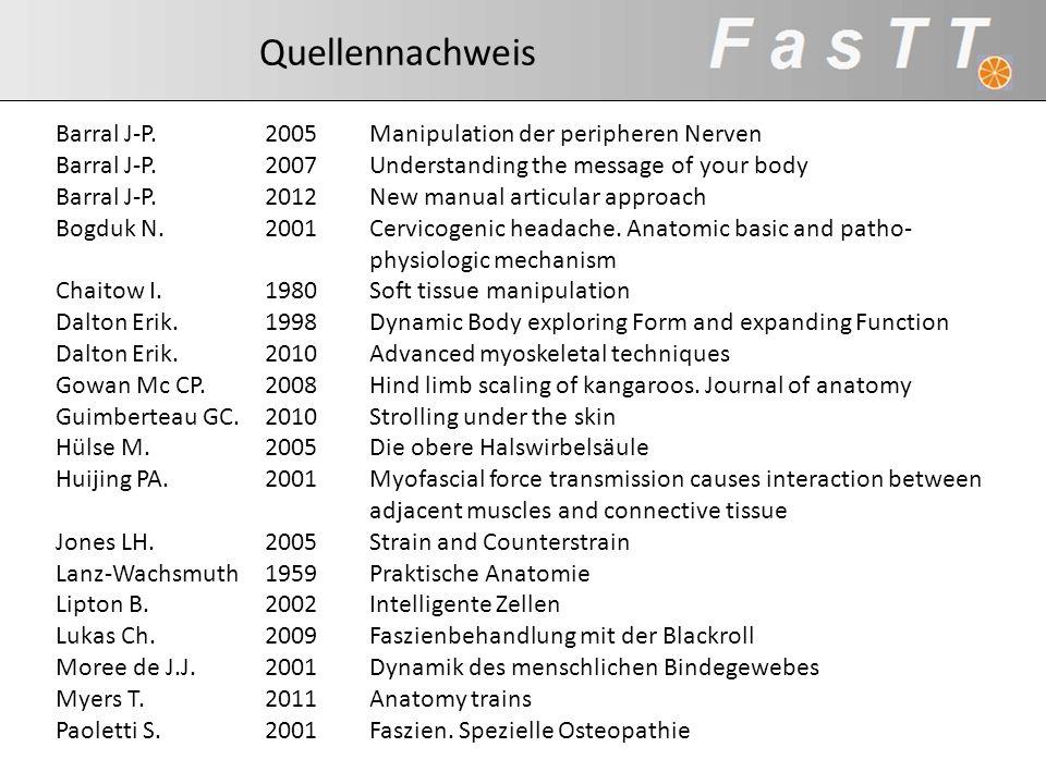 Quellennachweis Barral J-P. 2005 Manipulation der peripheren Nerven. Barral J-P. 2007 Understanding the message of your body.
