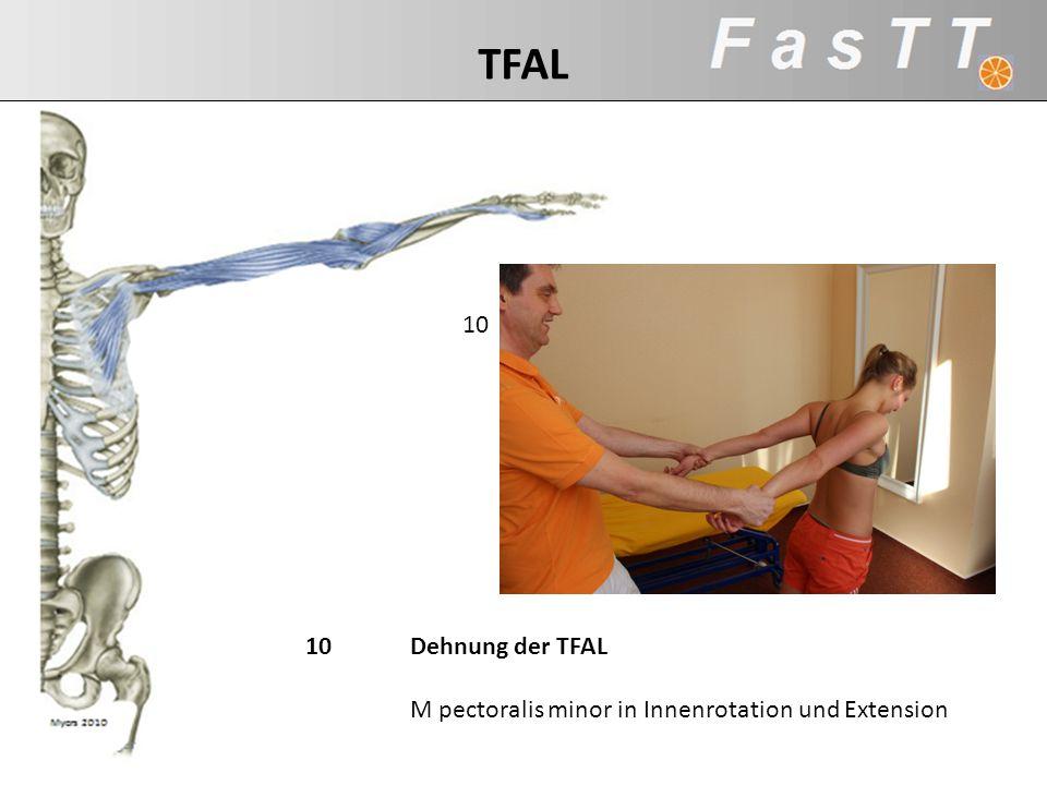 TFAL 10. TFAL: m pect minor… IRO. 10 Dehnung der TFAL.