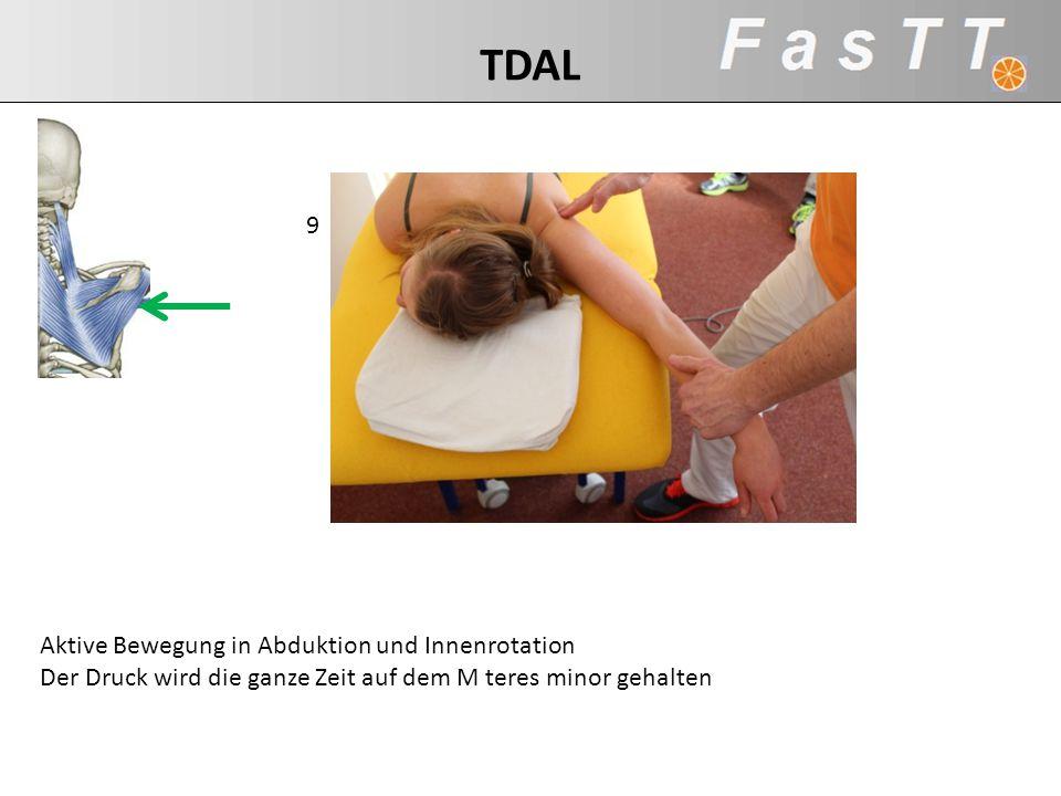 TDAL 9 Aktive Bewegung in Abduktion und Innenrotation