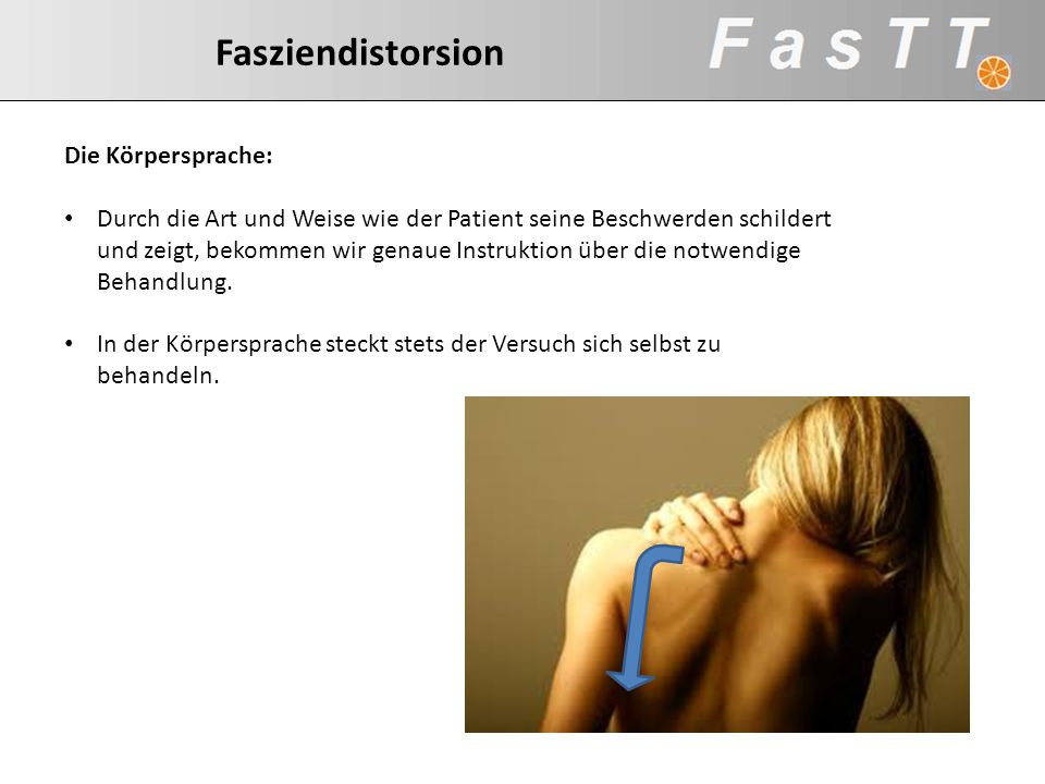 Fasziendistorsion Fasziendistorsion Die Körpersprache: