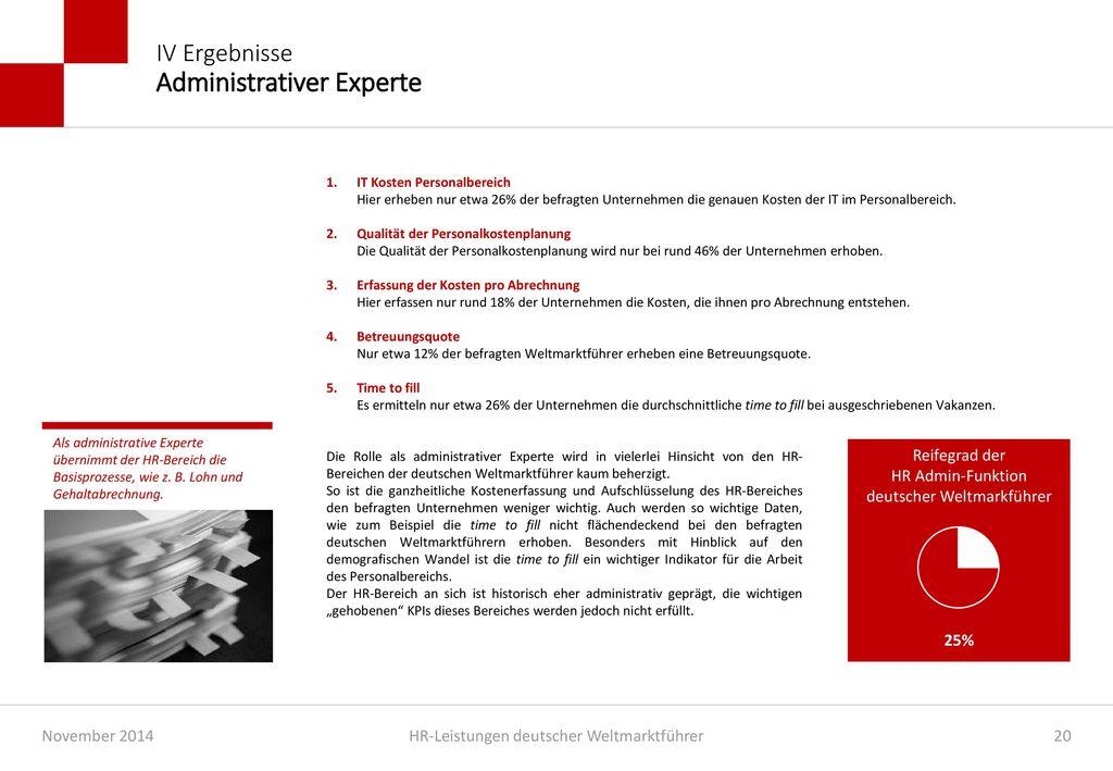 IV Ergebnisse Administrativer Experte