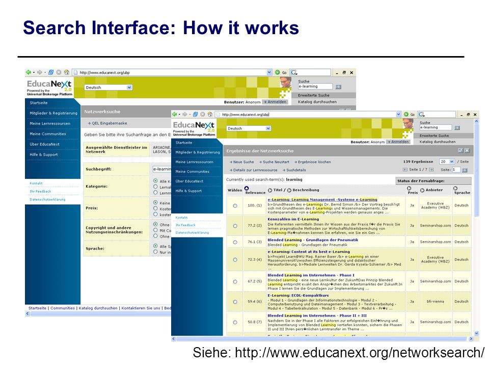 Search Interface: How it works