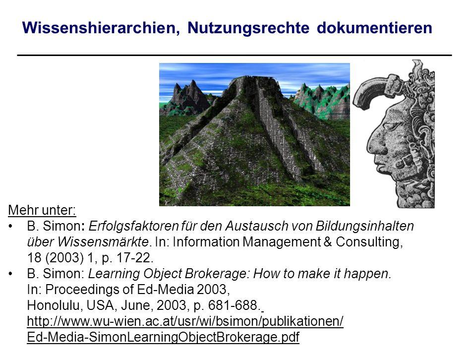 Wissenshierarchien, Nutzungsrechte dokumentieren