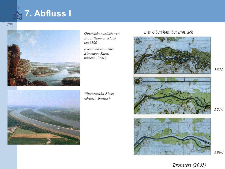 7. Abfluss I Bronstert (2005) Der Oberrhein bei Breisach 1820 1870