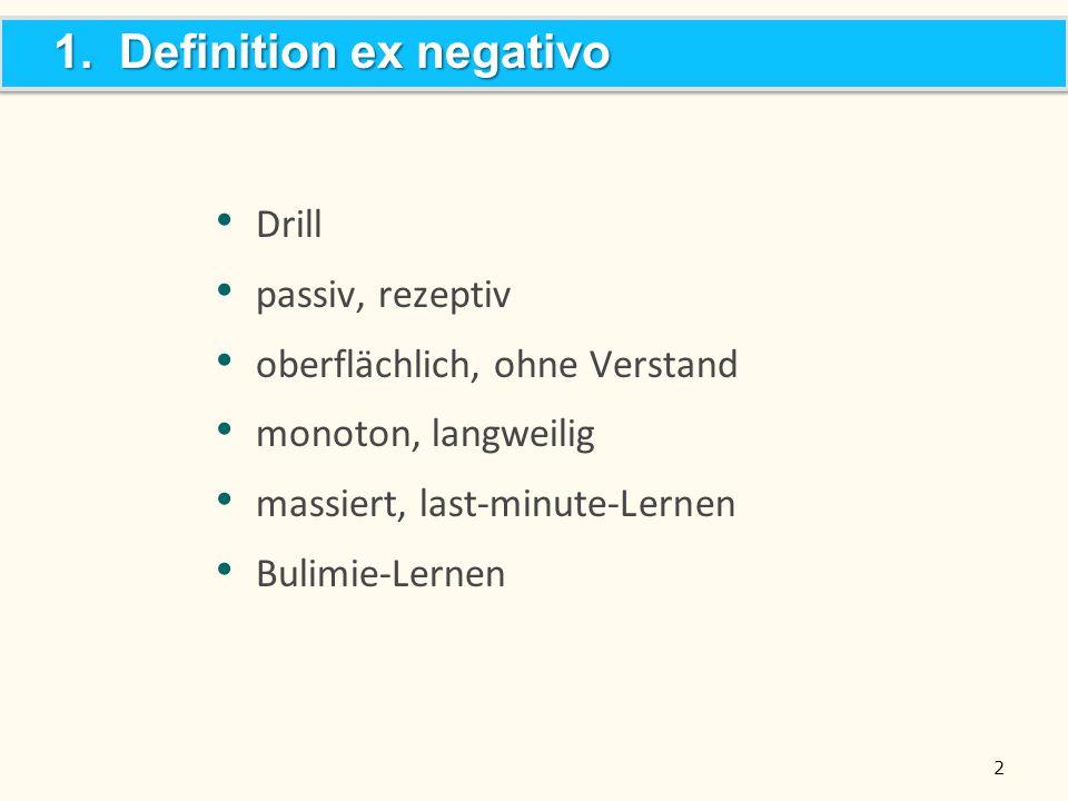 1. Definition ex negativo
