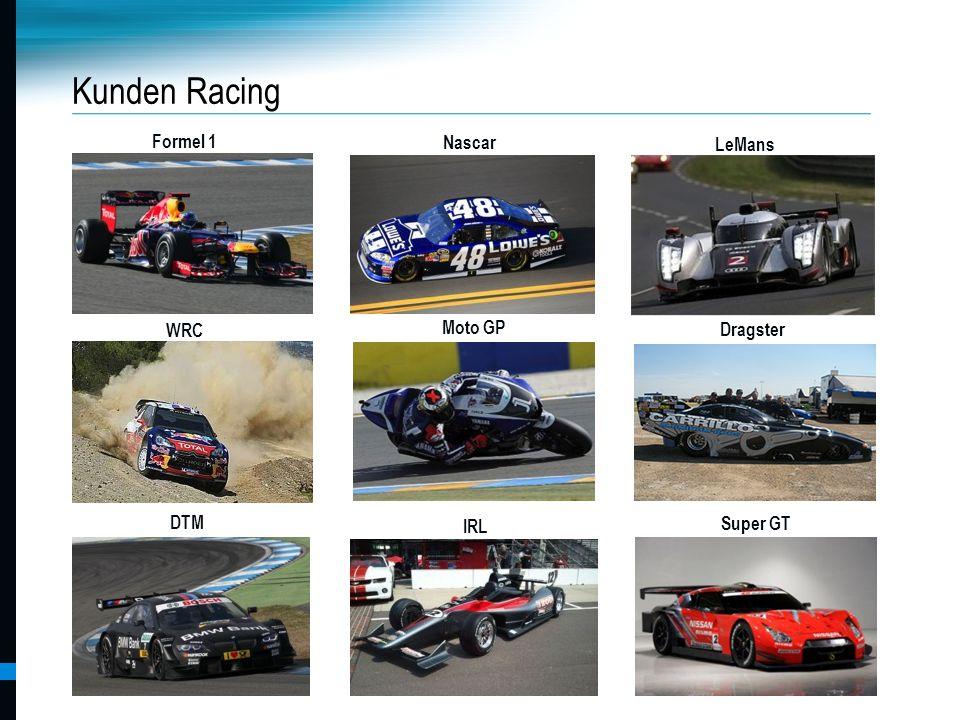 Kunden Racing Formel 1 Nascar LeMans WRC Moto GP Dragster IRL DTM IRL