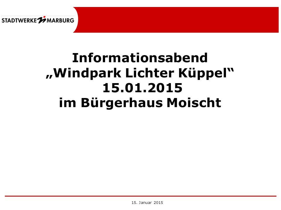 """""""Windpark Lichter Küppel"""