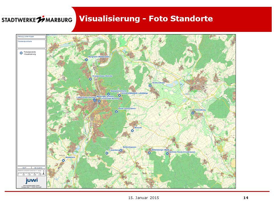 Visualisierung - Foto Standorte