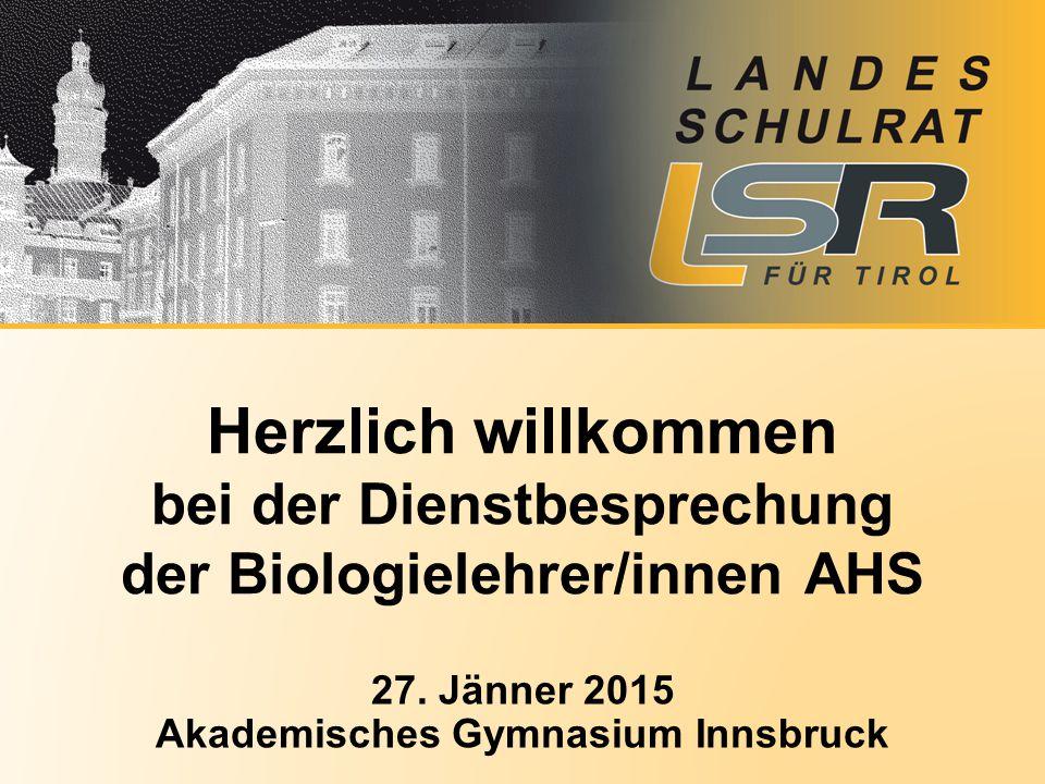 27. Jänner 2015 Akademisches Gymnasium Innsbruck