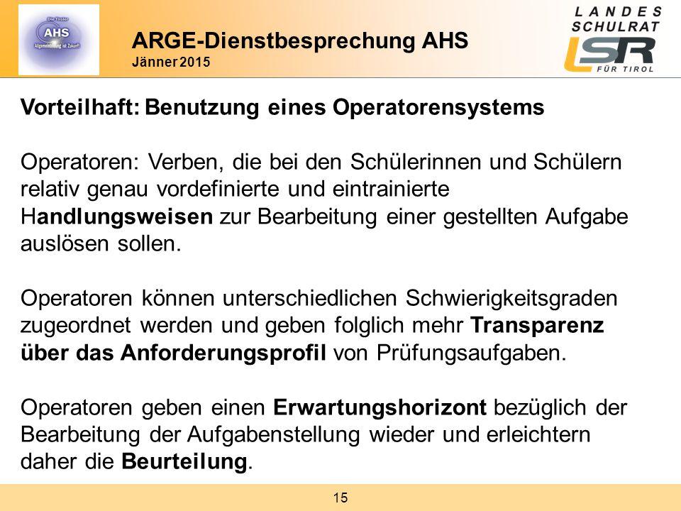 ARGE-Dienstbesprechung AHS