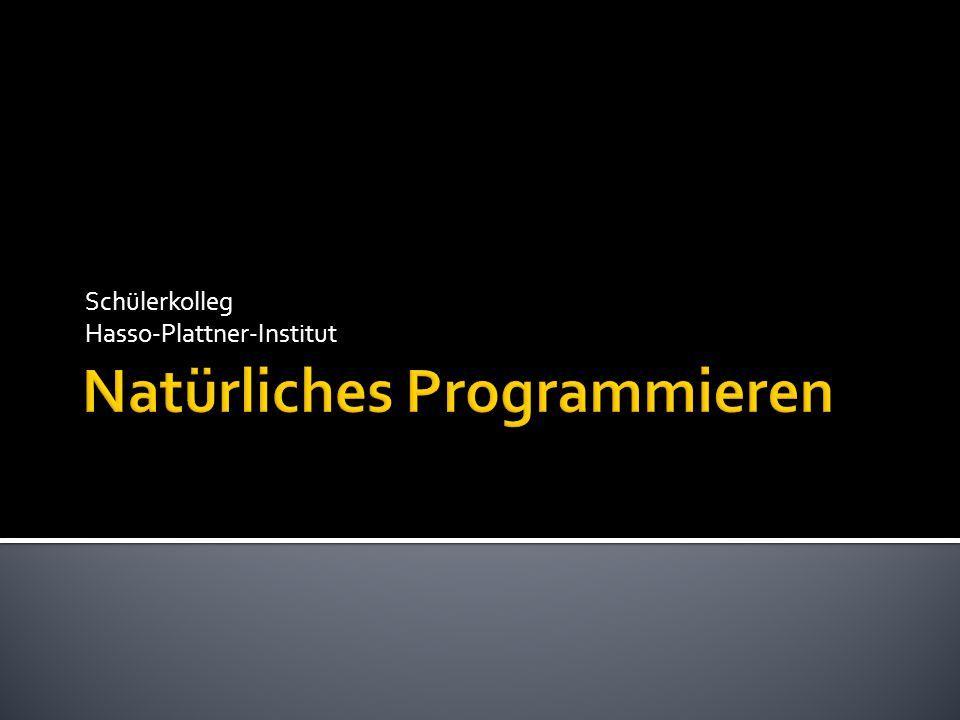 Natürliches Programmieren