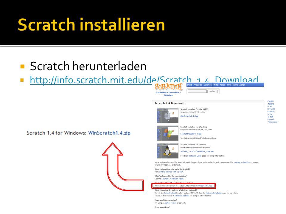 Scratch installieren Scratch herunterladen