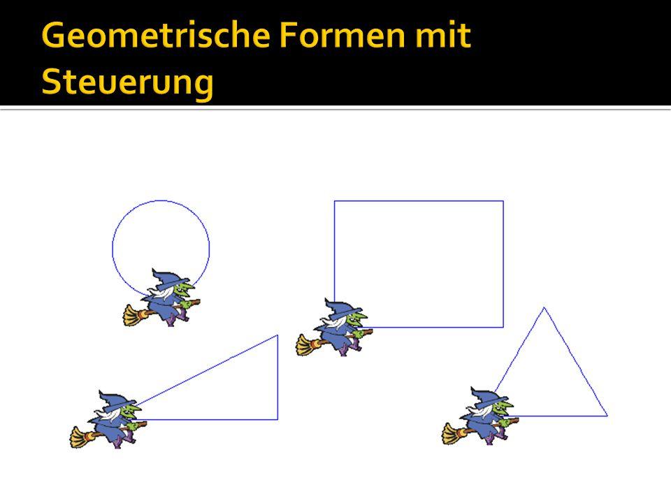 Geometrische Formen mit Steuerung