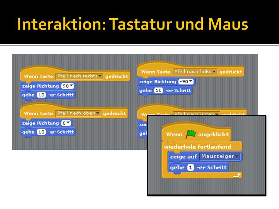 Interaktion: Tastatur und Maus