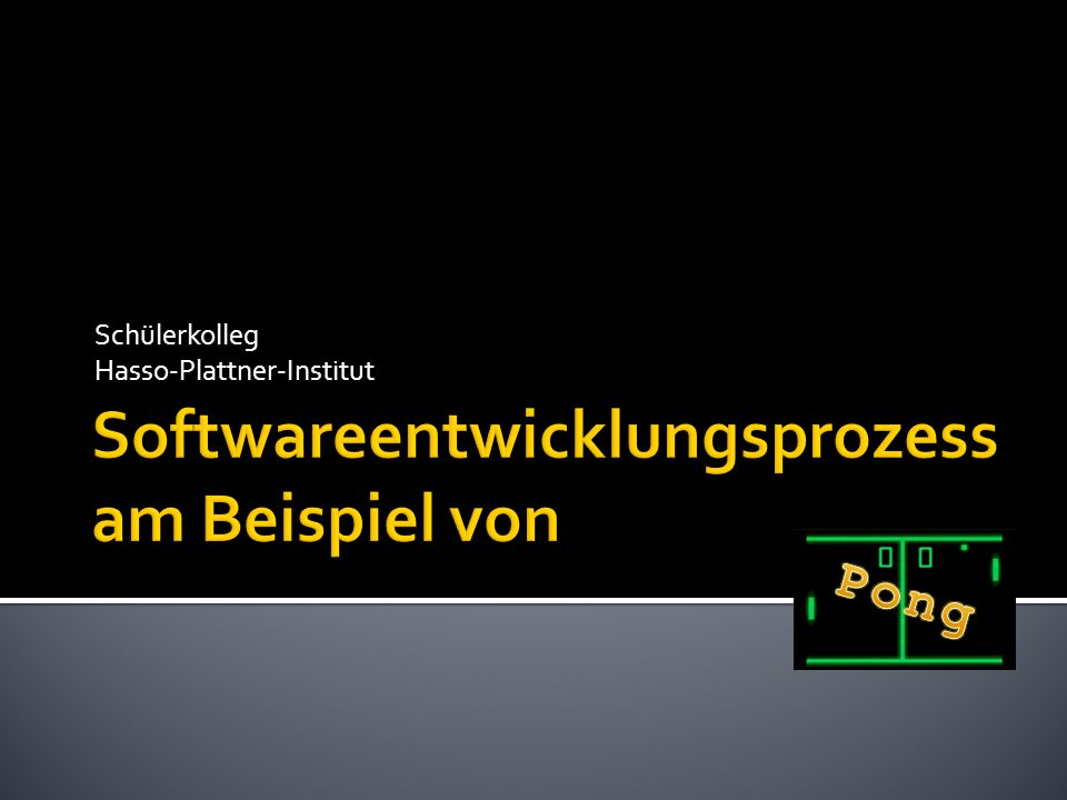 Softwareentwicklungsprozess am Beispiel von