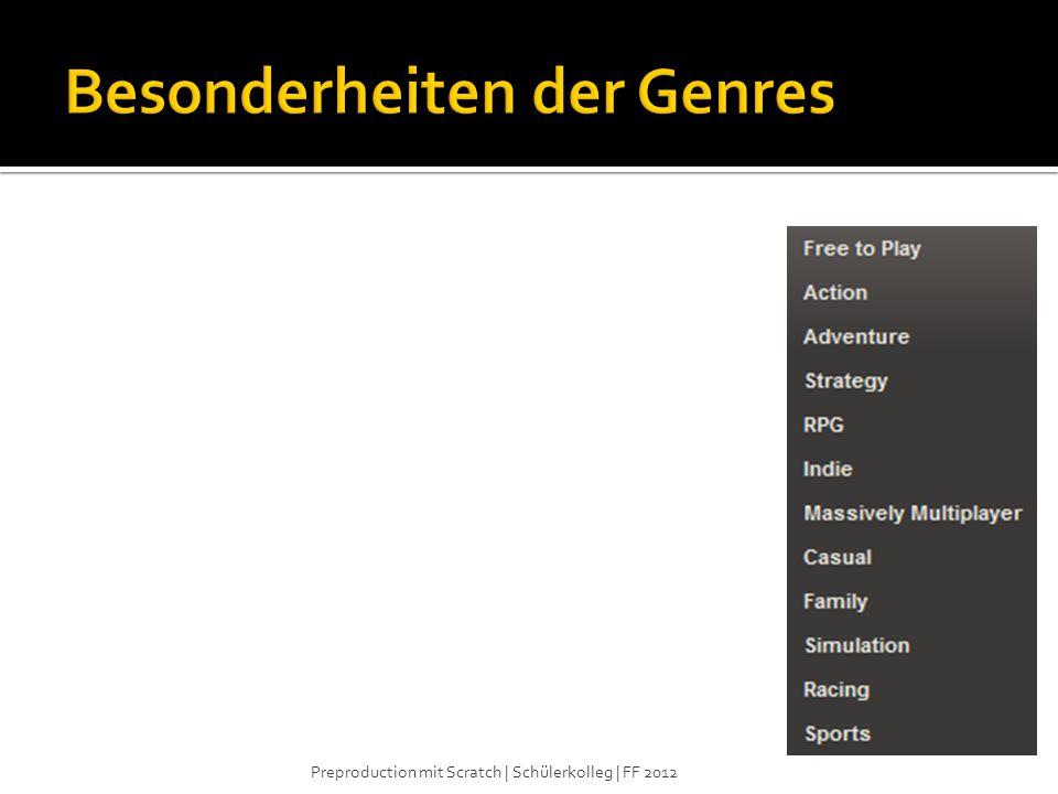 Besonderheiten der Genres