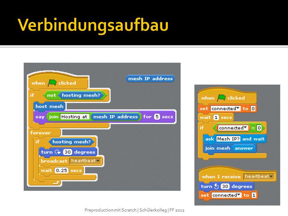 Verbindungsaufbau Preproduction mit Scratch | Schülerkolleg | FF 2012