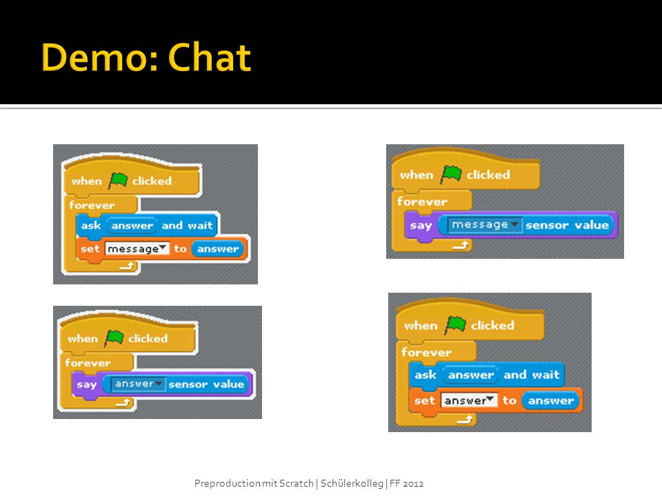 Demo: Chat Preproduction mit Scratch | Schülerkolleg | FF 2012