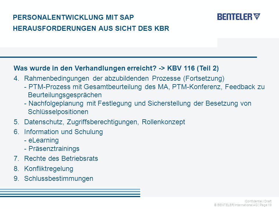PERSONALENTWICKLUNG MIT SAP HERAUSFORDERUNGEN AUS SICHT DES KBR