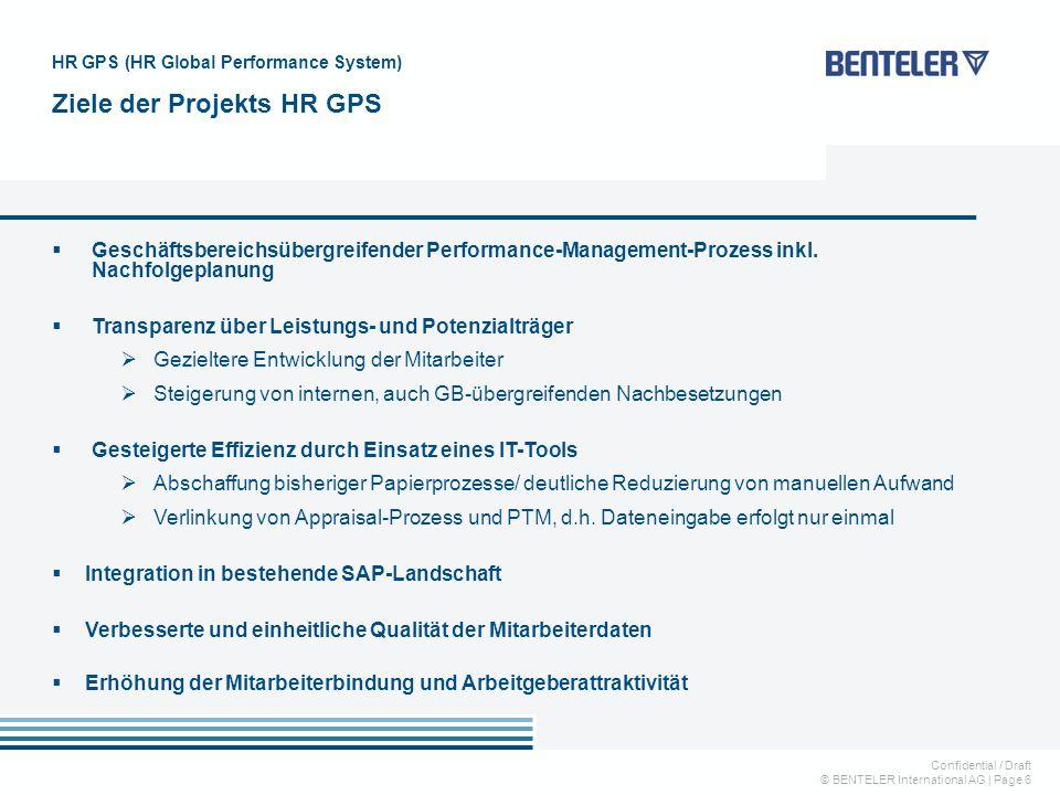 Ziele der Projekts HR GPS