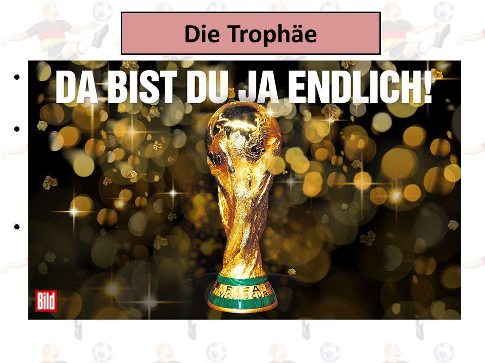 Die Trophäe Der Fußball-Weltmeister bekommt den FIFA WM-Pokal.