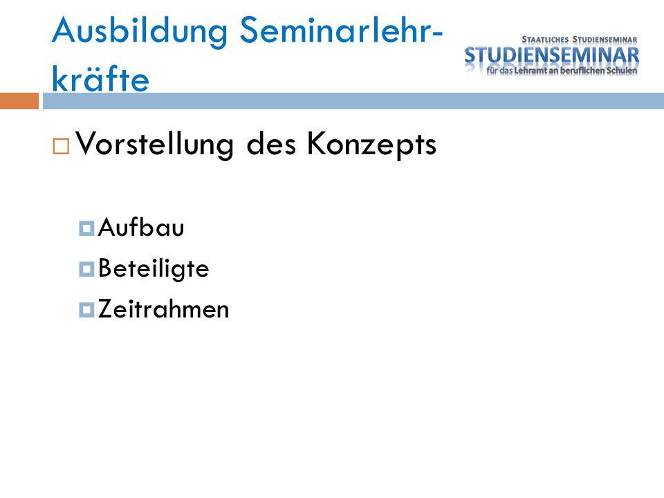 Ausbildung Seminarlehr- kräfte