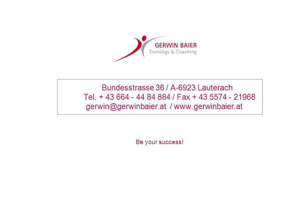 Bundesstrasse 36 / A-6923 Lauterach Tel